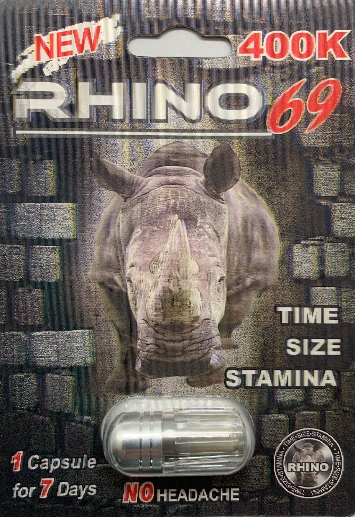 Rhino 69 400k Men Sexual Supplement Enhancement Pill Rhino Platinum